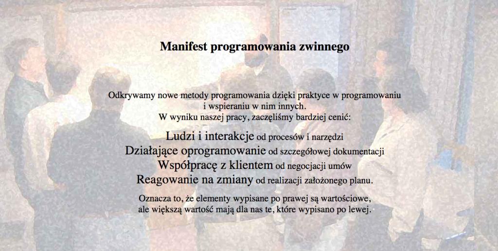 Manifest programowania zwinnego